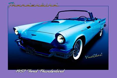 1957 Thunderbird Poster Art Print