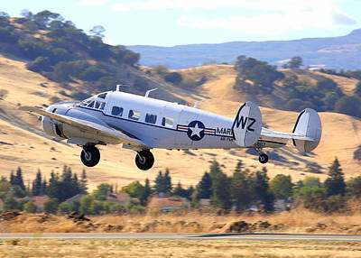Photograph - 1957 Twin Beech E185 Climbing Out N5867 by John King