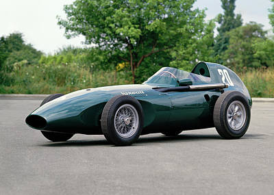 Formula One Photograph - 1957 Vanwall Formula One Vw10 Single by Panoramic Images