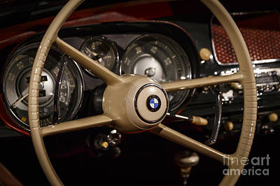 Photograph - 1958 Bmw Steering by Dennis Hedberg