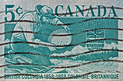 Photograph - 1958 British Columbia Stamp by Bill Owen