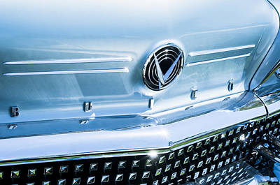 Photograph - 1958 Buick Roadmaster 75 Convertible Grille Emblem by Jill Reger