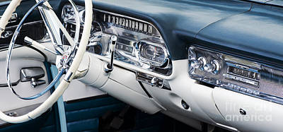 1958 Cadillac Dashboard Art Print by Tim Gainey