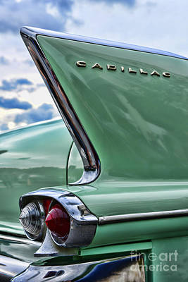 1958 Cadillac It's All In The Fin. Art Print by Paul Ward