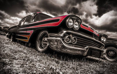 Red Chev Photograph - 1958 Chev Biscayne by motography aka Phil Clark