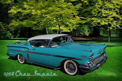 1958 Chev Impala Art Print