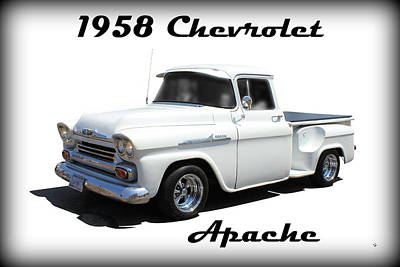 Photograph - 1958 Chevrolet Apache by Betty Northcutt
