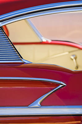 Belair Photograph - 1958 Chevrolet Belair Abstract by Jill Reger