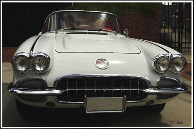 Photograph - 1958 Chevrolet Corvette by James C Thomas