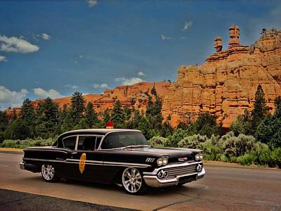 Photograph - 1958 Chevrolet Highway Patrol by Tim McCullough