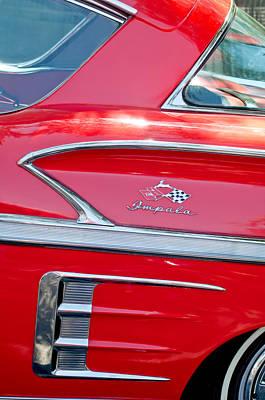 1958 Chevrolet Impala Emblem 4 Art Print