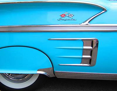 1958 Chevrolet Impala Print by Sven Migot