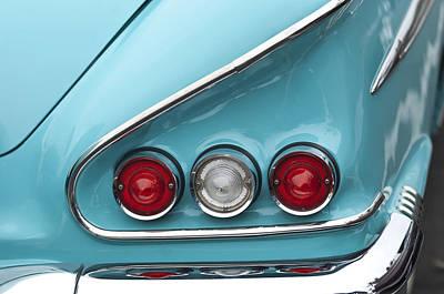Chevrolet Impala Photograph - 1958 Chevrolet Impala Taillights  by Jill Reger