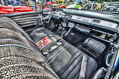 Photograph - 1958 Chevy Impala Interior by Ron Roberts