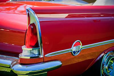 Chrysler 300 Photograph - 1958 Chrysler 300d Convertible Taillight Emblem -2972c by Jill Reger