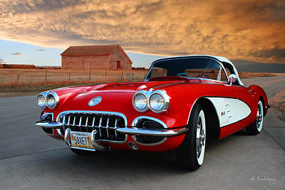Photograph - 1958 Corvette by Andrea Kelley