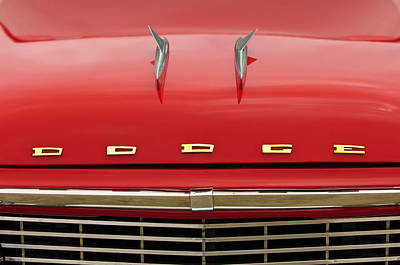 Coronet Photograph - 1958 Dodge Coronet Super D-500 Convertible Hood Ornament by Jill Reger