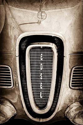 Photograph - 1958 Edsel Roundup Grille Emblem - Hood Ornament by Jill Reger