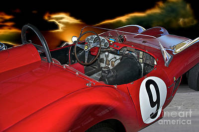 1958 Ferrari 250gt Testa Rossa 'driver's Compartment' Art Print by Dave Koontz