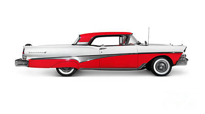 1958 Ford Fairlane 500 Skyliner Art Print