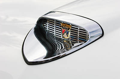 Hood Ornament Photograph - 1958 Ford Hood Emblem by Jill Reger