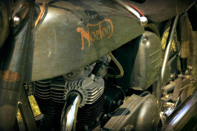 Photograph - 1958 Norton Dominator Detail by Michelle Calkins