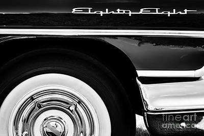 Side Panel Photograph - 1958 Oldsmobile Dynamic 88 Monochrome by Tim Gainey