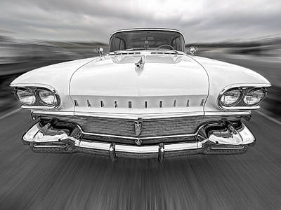 Photograph - 1958 Oldsmobile Rocket 88 Head On by Gill Billington