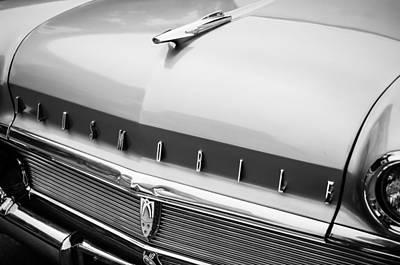Photograph - 1958 Oldsmobile Super 88 Grille Emblem - Hood Ornament -0203bw by Jill Reger