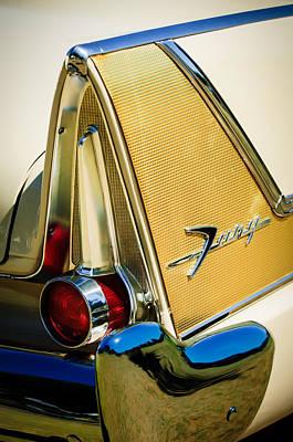 Photograph - 1958 Plymouth Fury Golden Commando Taillight Emblem -3467c by Jill Reger