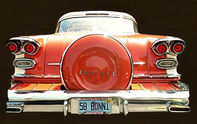 Photograph - 1958 Pontiac Bonneville by Diana Angstadt