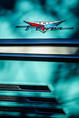 Tri Wall Art - Photograph - 1958 Pontiac Bonneville Tri Power Emblem by Jill Reger