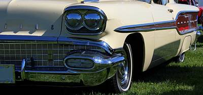 Photograph - 1958 Pontiac Strato Chief by Davandra Cribbie
