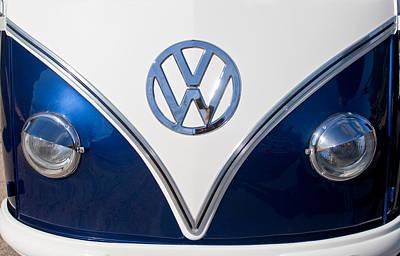Photograph - 1958 Volkswagen Vw Bus Hood Emblem by Jill Reger