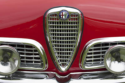Pebble Beach Photograph - 1959 Alfa Romeo Giulietta Sprint Grille by Jill Reger