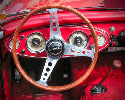 Photograph - 1959 Austin Healey 3000 Mk I Instrument Panel by Alan Toepfer