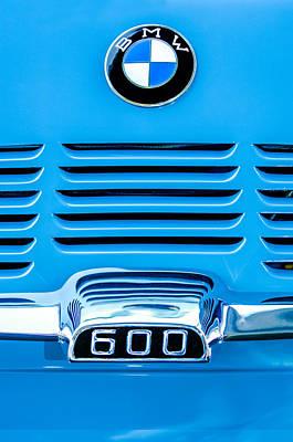 Bmw Vintage Cars Photograph - 1959 Bmw 600 Isetta Emblem by Jill Reger