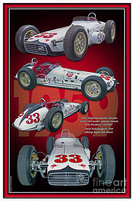 Indy Car Photograph - 1959 Bowes Seal Fast Spl. W Yr. by Ed Dooley