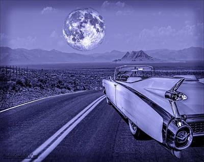 Photograph - 1959 Cadillac Eldorado Blue Moon by LeeAnn McLaneGoetz McLaneGoetzStudioLLCcom