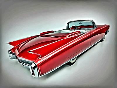 Reds Painting - 1959 Cadillac Eldorado by Florian Rodarte