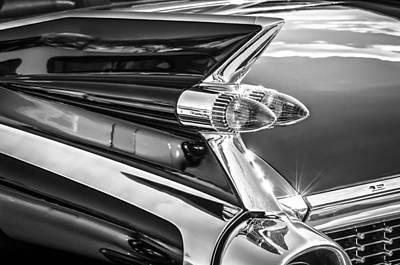 Photograph - 1959 Cadillac Eldorado Taillight -097bw by Jill Reger