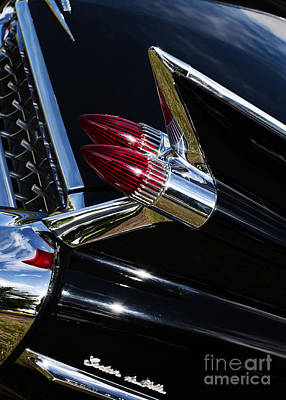 1959 Cadillac Photograph - 1959 Cadillac Sedan De Ville Bullet Tail Lights by Tim Gainey