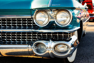 Caddy Photograph - 1959 Cadillac Sedan Deville Series 62 Grill by Jon Woodhams