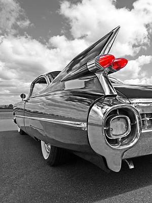 Bw Photograph - 1959 Cadillac Tail Fins by Gill Billington