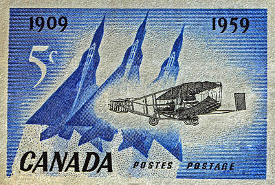 Photograph - 1959 Canada Silver Dart Stamp by Bill Owen