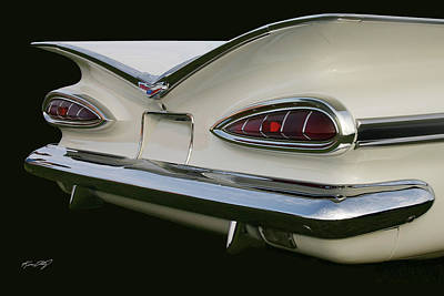 Classic Chev Photograph - 1959 Chev Impala Tail by Kevin Doty