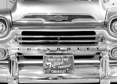 Photograph - 1959 Chevrolet Apache Bw 012315 by Rospotte Photography