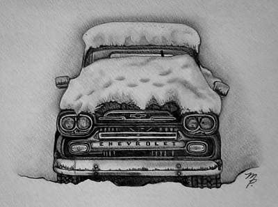 Apache Drawing - 1959 Chevrolet Apache by Melena Paradee