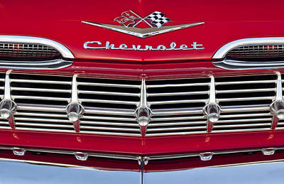 Hoodies Photograph - 1959 Chevrolet Grille Ornament by Jill Reger