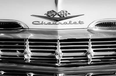 1959 Chevrolet Impala Grille Emblem Art Print by Jill Reger